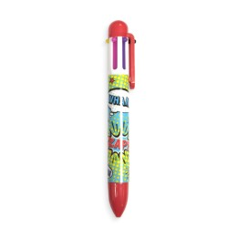 6 CLICK COMIC ATTACK PEN - RED