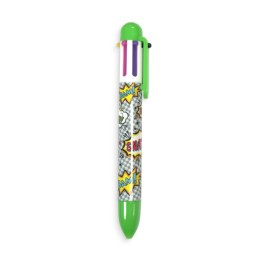 6 CLICK COMIC ATTACK PEN - GREEN