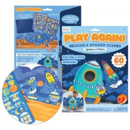 PEGATINAS REUSABLES PLAY AGAIN - SPACE CRITTERS