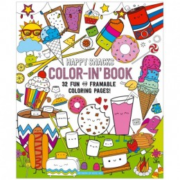 COLORING BOOK HAPPY SNACKS