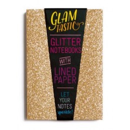 GLAMTASTIC GLITTER NOTEBOOK - GOLD & BRONZE