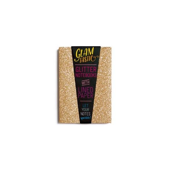 GLAMTASTIC GLITTER NOTEBOOK - GOLD & BRONZE