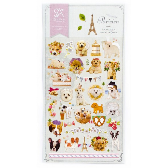 PARISIEN DOGS STICKERS