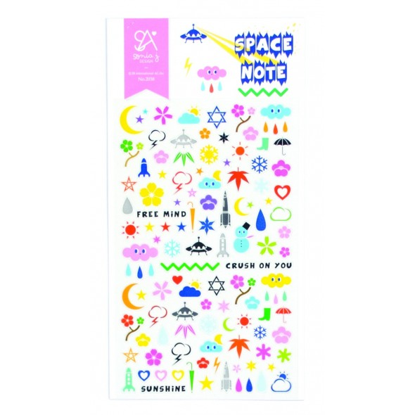 SPACE NOTE STICKERS