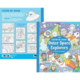 COLOR IN BOOK - OUTER SPACE EXPLORERS