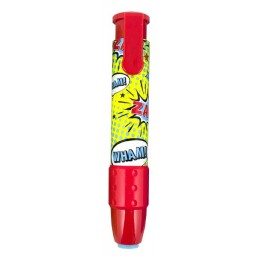 COMIC ATTACK CLICK IT ERASERS RED