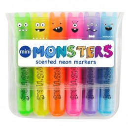 MINI MONSTERS SCENTED MARKERS