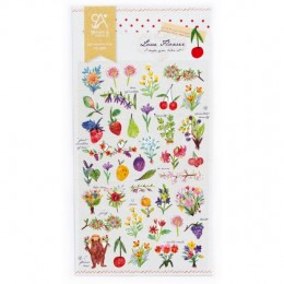 LOVE FLOWERS STICKERS